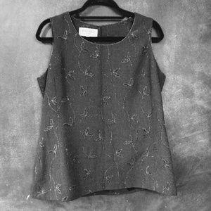 BERGAMO | Black and Silver Dressy Shell/Tank